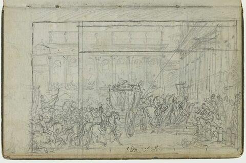 Etude pour l'arrivée de Napoléon Ier à l'Hôtel de ville