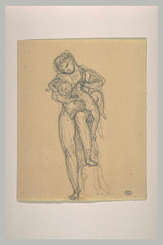 Ménade tenant dans ses bras le jeune Bacchus