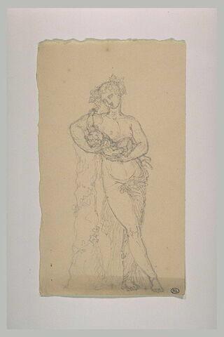 Ménade tenant l'enfant Bacchus dans ses bras