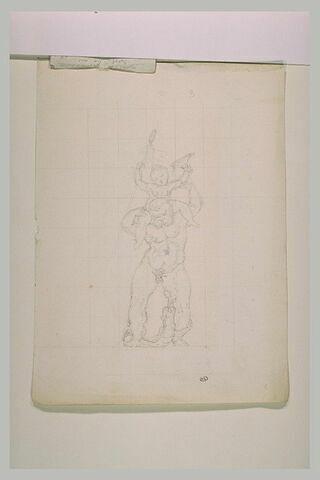 Silène portant sur ses épaules le jeune Bacchus tenant une coupe