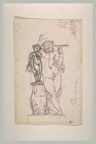 Silène tenant le jeune Bacchus à califourchon