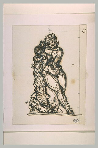Silène tenant dans ses bras le jeune Bacchus