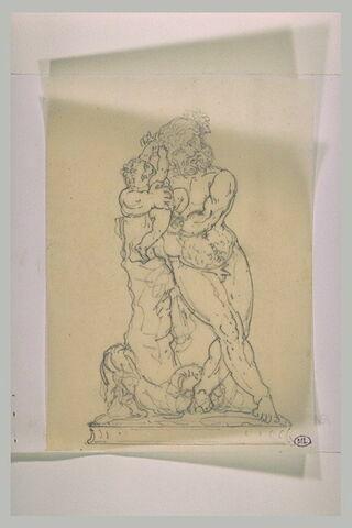 Silène tenant l'enfant Bacchus dans ses bras