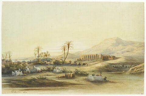 La Vallée du Nil avec les ruines du temple de Séthi Ier