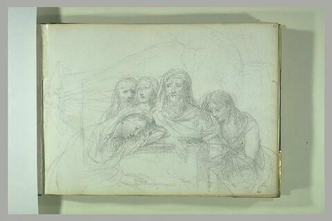 Saintes femmes au tombeau, avec sainte Madeleine et saint Jean