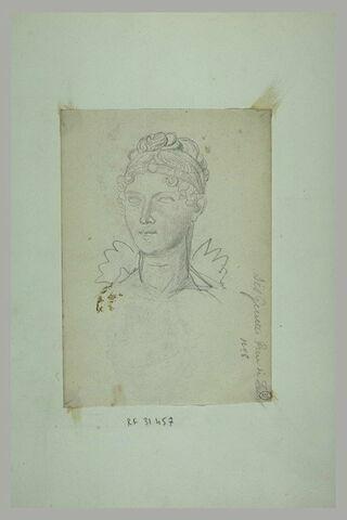 Tête de jeune femme : l'Impératrice Marie-Louise ?