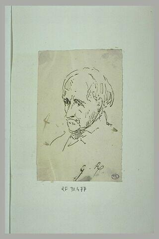 Portrait d'homme âgé, en buste, tourné vers la gauche
