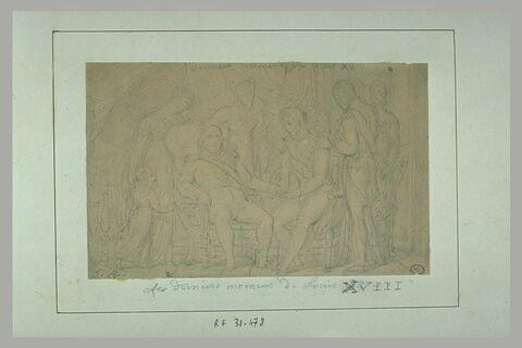 'Les derniers moments de Louis XVIII'
