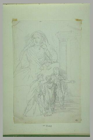 Buste de femme, les yeux au ciel, et les rois mages (?)