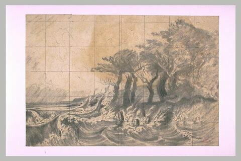Grande marée d'équinoxe aux environs de Honfleur, à Vasouy