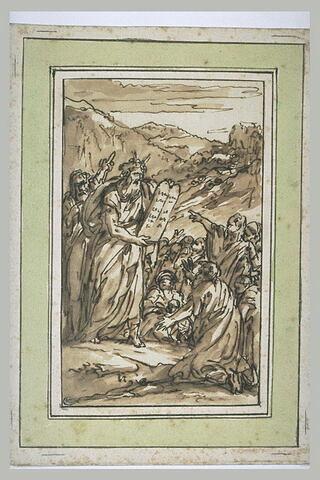 Moïse apportant les tables de la Loi