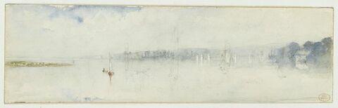Vue de l'estuaire de la Seine
