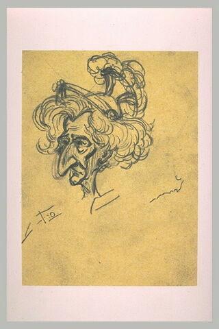 Portrait charge de Berlioz