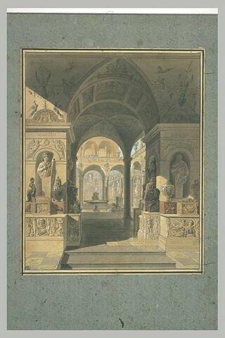 Intérieur d'un palais romain