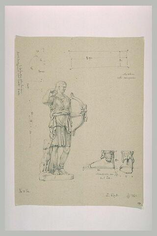 Artémis vêtue d'une tunique courte et tirant une flèche de son carquois