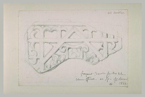 Fragment de bas-relief chrétien