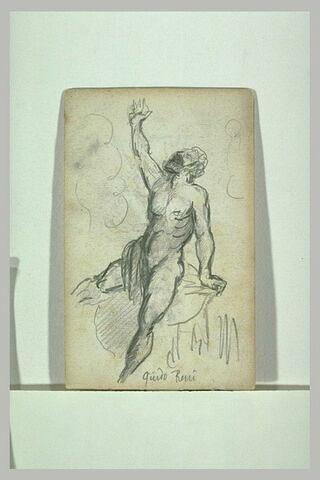 Figure nue, le bras droit levé