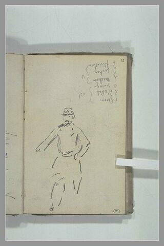 Homme, coiffé d'une casquette: soldat