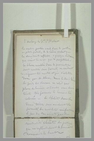 Texte manuscrit : 'L'Auberge du Gd St Hubert...'