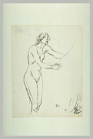 Femme nue, les bras tendus en avant