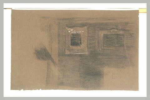 Mur avec deux tableaux