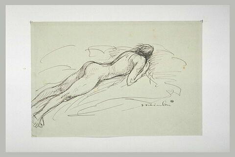 Femme nue, étendue sur le ventre