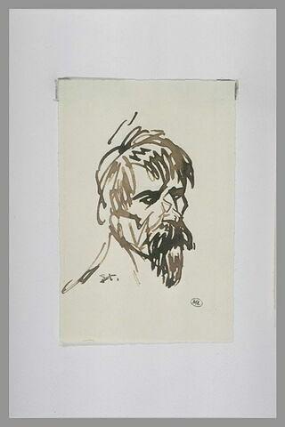 Tête d'homme avec moustache et barbiche