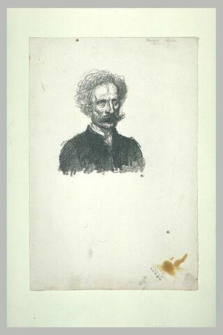 Portrait d'homme avec moustache, en buste