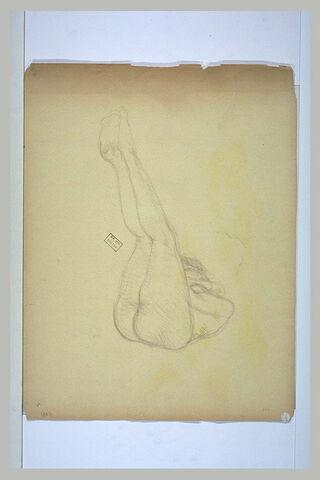 Femme nue, couchée sur le côté droit, repliée sur elle-même