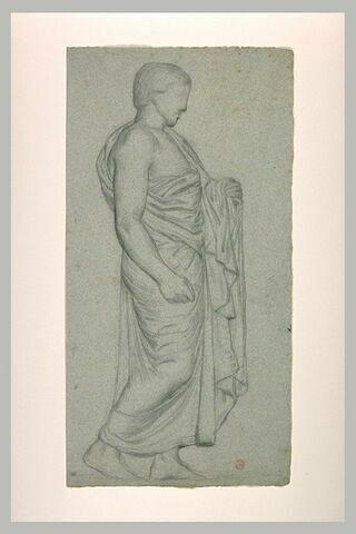 Etude d'un homme debout, de profil, d'après un bas-relief antique