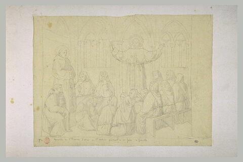 Apparition de saint François d'Assise à saint Antoine prêchant à Grenoble