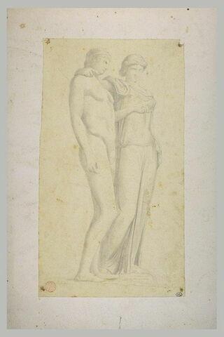 Copie d'après l'antique d'un couple de personnages