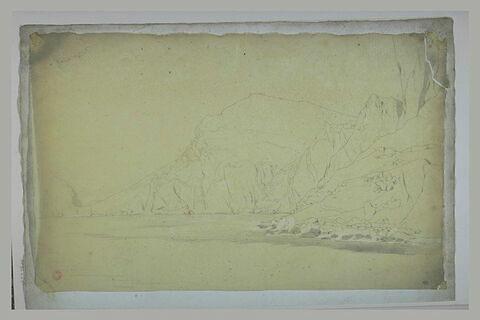 Un lac bordé de montagnes rocheuses
