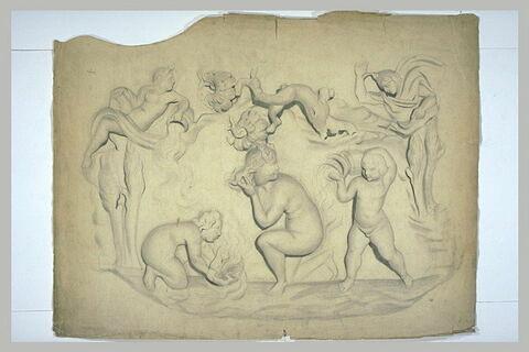 Vénus se baignant entre deux amours, ou la naissance de Vénus