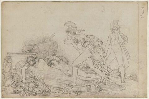 Nisus et Euryale traversant le camp ennemi