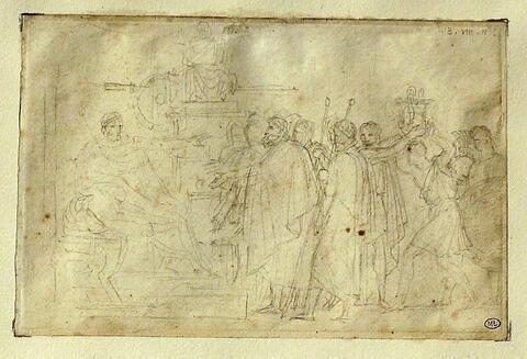 Diomède reçoit les ambassadeurs de Turnus