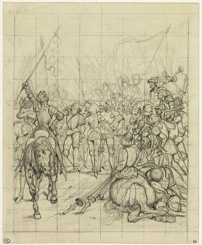 Etude pour 'Jeanne d'Arc capturée à Compiègne'