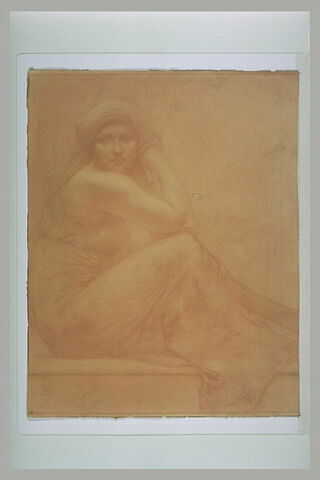 Femme assise en turban