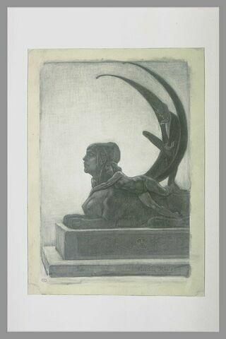 Le sphinx, frontispice pour les 'Diaboliques' de Barbey d'Aurevilly