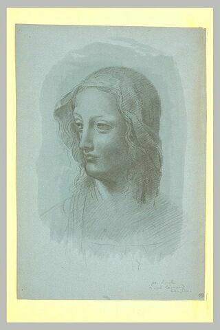 Tête de Vierge, de trois quarts à gauche