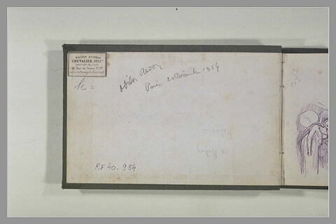 Signature et date : 'Odilon Redon. Paris 20 décembre 1864'