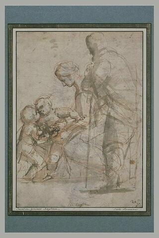 La Vierge présentant l'Enfant Jésus au petit saint Jean, avec saint Joseph