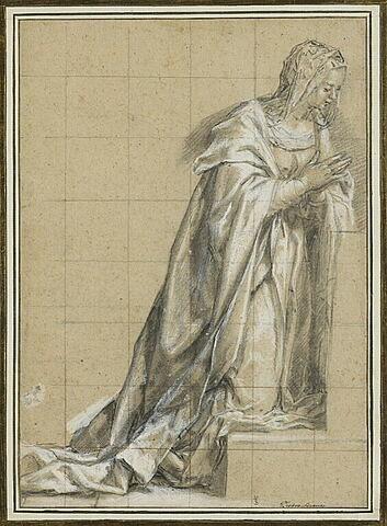 Etude pour la Vierge de l'Annonciation