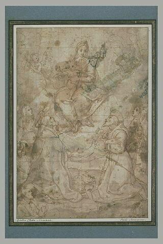 La Vierge et l'Enfant adorés par quatre saints et un donateur