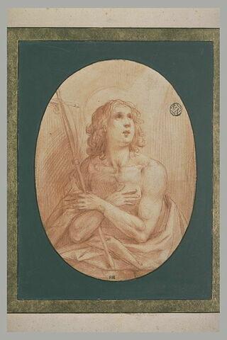 Demi-figure de saint Jean-Baptiste tenant la croix