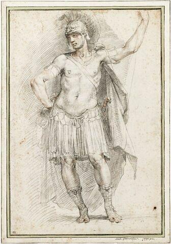 Etude d'une figure de guerrier : David
