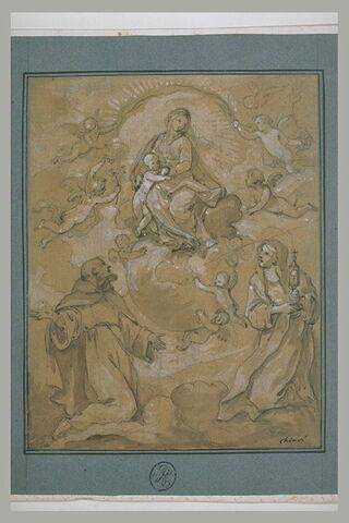 La Vierge apparaissant à sainte Claire et saint François