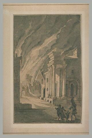L'incendie de Troie : Enée portant son père Anchise
