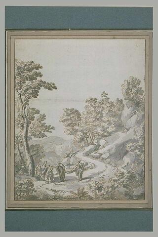 Paysage avec Hazael, roi de Syrie, sacré par Elie