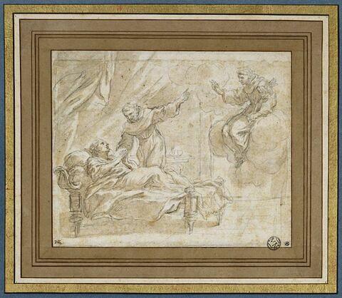 Apparition d'un saint à un mourant